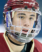 Michael Sit (BC - 18) - The Boston College Eagles practiced on Wednesday, April 4, 2012, during the 2012 Frozen Four at the Tampa Bay Times Forum in Tampa, Florida.