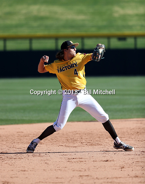 Brett Barrera takes part in the 2018 Under Armour Pre-Season All-America Tournament at the Chicago Cubs training complex on January 13-14, 2018 in Mesa, Arizona (Bill Mitchell)