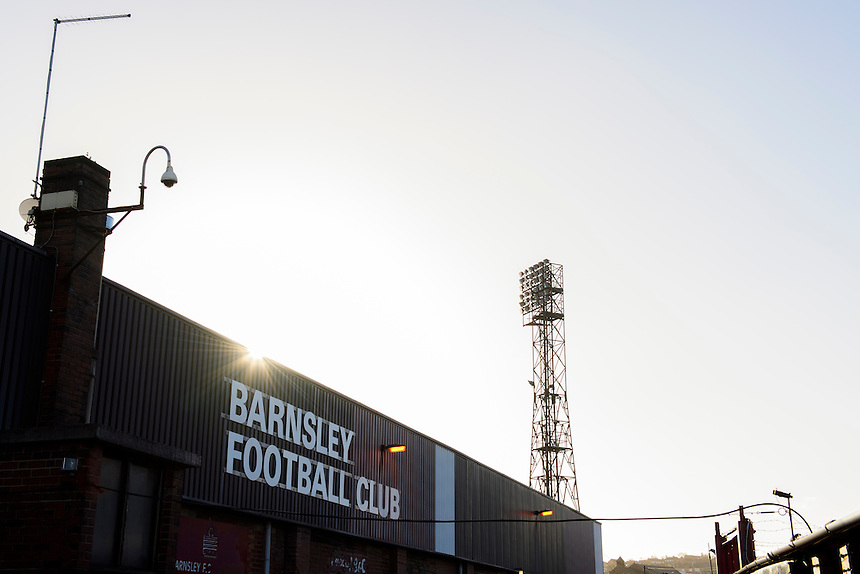 A general view of Oakwell, home of Barnsley<br /> <br /> Photographer Chris Vaughan/CameraSport<br /> <br /> The EFL Sky Bet Championship - Barnsley v Blackburn Rovers - Monday 26th December 2016 - Oakwell Stadium - Barnsley<br /> <br /> World Copyright &copy; 2016 CameraSport. All rights reserved. 43 Linden Ave. Countesthorpe. Leicester. England. LE8 5PG - Tel: +44 (0) 116 277 4147 - admin@camerasport.com - www.camerasport.com