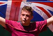 June 10th 2017, Roland Garros, Paris, France; Mens singles wheelchair final, Hewett (gbr) versus Fernandez (arg);  The 19-year-old Hewett (GBR) won 0-6 7-6 (11-9) 6-2 against Argentina's Gustavo Fernandez to claim his first Grand Slam title.
