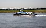 The Waterbus is a public transportation system on the River Maas linking Rotterdam to Dordrecht and with several smaller branch lines, South Holland, Netherlands