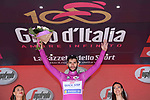 Fernando Gaviria (COL) Quick-Step Floors retains the Maglia Ciclamino at the end of Stage 17 of the 100th edition of the Giro d'Italia 2017, running 219km from Tirano to Canazei, Italy. 24th May 2017.<br /> Picture: LaPresse/Gian Mattia D'Alberto | Cyclefile<br /> <br /> <br /> All photos usage must carry mandatory copyright credit (&copy; Cyclefile | LaPresse/Gian Mattia D'Alberto)