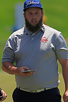 Andrew &quot;Beef&quot; Johnson (ENG) walks to the 1st tee to start his match during Thursday's Round 1 of the 117th U.S. Open Championship 2017 held at Erin Hills, Erin, Wisconsin, USA. 15th June 2017.<br /> Picture: Eoin Clarke | Golffile<br /> <br /> <br /> All photos usage must carry mandatory copyright credit (&copy; Golffile | Eoin Clarke)