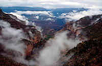 WEATHER<br /> Low Hanging Clouds Over The Grand Canyon