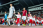 Guangzhou players Zeng Cheng (L) Feng Xiaoting (C) getting into the field during the AFC Champions League 2017 Group G match between Guangzhou Evergrande FC (CHN) vs Kawasaki Frontale (JPN) at the Tianhe Stadium on 14 March 2017 in Guangzhou, China. Photo by Marcio Rodrigo Machado / Power Sport Images