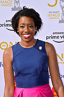 LOS ANGELES, CA. March 30, 2019: Lauren Underwood at the 50th NAACP Image Awards.<br /> Picture: Paul Smith/Featureflash