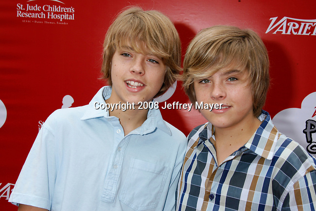 LOS ANGELES, CA. - October 04: Actor Cole Sprouse and actor Dylan Sprouse arrive at 'Target Presents Variety's Power of Youth' event held at NOKIA Theatre L.A. LIVE on October 4, 2008 in Los Angeles, California.