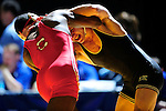 12 MAR 2011: Aljamain Sterling of SUNY Cortland takes on Chris Albright of York in the men's 141 lbs competition for fifth place during the Division III Men's Wrestling Championship held at the La Crosse Center in La Crosse Wisconsin. Stephen Nowland/NCAA Photos