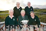 Ref Jim O'Gorman..The Waterville Golf Club team who won the Inaugural John B. O'Shea Memorial Trophy at Beaufort GC on Wednesday 20th July were front l-r; John Quinlan, Hugh Mullins(Captain WGC), Mike Murphy, back l-r; Sean O'Sullivan & James O'Connor.