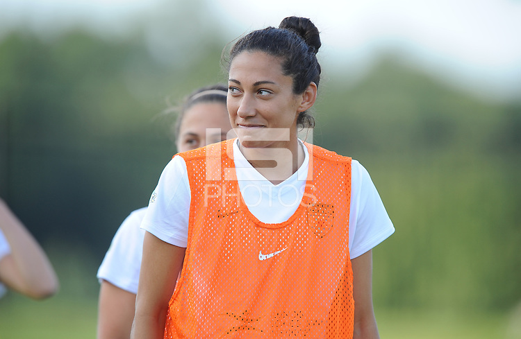 Boyds, MD - Saturday August 26, 2017: Christen Press prior to a regular season National Women's Soccer League (NWSL) match between the Washington Spirit and the Chicago Red Stars at Maureen Hendricks Field, Maryland SoccerPlex.
