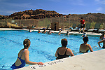 Aqua-robics fitness class in pool at Red Mountain Resort, Ivins, Utah's Dixie, near St. George, UTAH