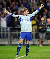 FUSSBALL   1. BUNDESLIGA   SAISON 2011/2012   SUPERCUP FC Schalke 04 - Borussia Dortmund            23.07.2011 Torwart Ralf FAEHRMANN, (Schalke) jubelt nach dem Elfmeterschiessen