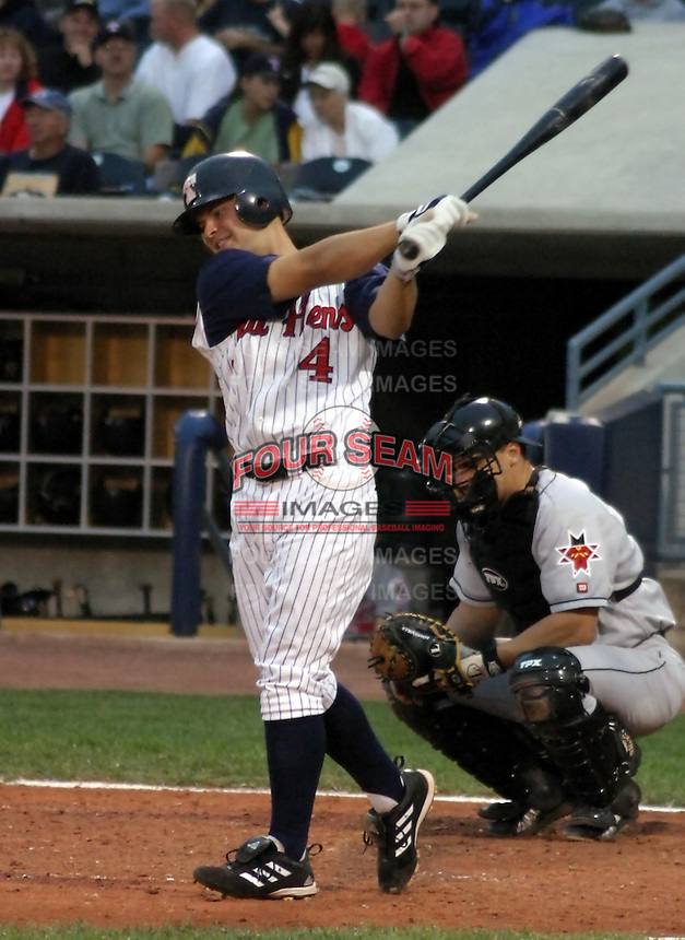 August 31, 2003:  Outfielder Cody Ross of the Toledo Mudhens, Class-AAA affiliate of the Detroit Tigers, during a International League game at Fifth Third Field in Toledo, OH.  Photo by:  Mike Janes/Four Seam Images