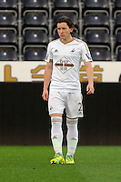 Pictured: Aaron Lewis of Swansea Monday 04 April 2016<br /> Re: Swansea City AFC U21 v Newcastle United FC U21 at the Liberty Stadium, Swansea, UK