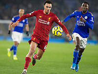 26th December 2019; King Power Stadium, Leicester, Midlands, England; English Premier League Football, Leicester City versus Liverpool; Dejan Lovren of Liverpool chasing the ball followed by Wilfred Ndidi of Leicester City  - Strictly Editorial Use Only. No use with unauthorized audio, video, data, fixture lists, club/league logos or 'live' services. Online in-match use limited to 120 images, no video emulation. No use in betting, games or single club/league/player publications