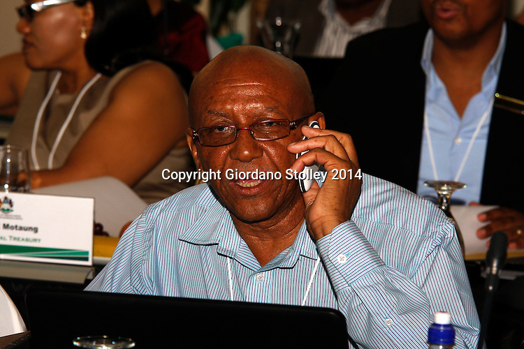 DURBAN - 20 February 2014 - Mduduzi Mngomezulu, the municipal manager of the Umzinyathi District Municipality attends a meeting of the KwaZulu-Natal provincial cabinet in Durban. Picture: Allied Picture Press/APP