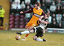 07/02/2009  Copyright Pic: James Stewart.File Name : sct_jspa09_motherwell_v_stmirren.JIM O'BRIEN IS CHALLENGED BY HUGH MURRAY.James Stewart Photo Agency 19 Carronlea Drive, Falkirk. FK2 8DN      Vat Reg No. 607 6932 25.Studio      : +44 (0)1324 611191 .Mobile      : +44 (0)7721 416997.E-mail  :  jim@jspa.co.uk.If you require further information then contact Jim Stewart on any of the numbers above.........