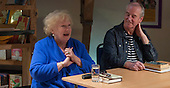 "Denise Robertson, writer & broadcaster, with David Almond, writer and patron of Seven Stories, at an evening celebrating the work of Leila Berg and the official opening of her archive at Seven Stories in Newcastle, 19th September 2012.  Denise was commissioned by Leila to write one of the ""Nippers"" stories for kids, ""The New Bath""."
