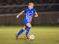 Boyds, MD - April 16, 2016: Boston Breakers player McCall Zerboni (77). The Washington Spirit defeated the Boston Breakers 1-0 during their National Women's Soccer League (NWSL) match at the Maryland SoccerPlex.