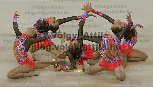 First Hungarian Rythmic Gymnastics World Cup held in  Papp Laszlo Sports Arena.