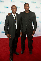 "ST. PAUL, MN JULY 16:  Former NFL player Derrick Coleman Jr. poses on the red carpet at the Starkey Hearing Foundation ""So The World May Hear Awards Gala"" on July 16, 2017 in St. Paul, Minnesota. Credit: Tony Nelson/Mediapunch"