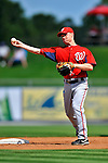 28 February 2011: Washington Nationals' infielder Brian Bixler warms up prior to a Spring Training game against the New York Mets at Digital Domain Park in Port St. Lucie, Florida. The Nationals defeated the Mets 9-3 in Grapefruit League action. Mandatory Credit: Ed Wolfstein Photo