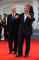 Masayuki Mori and Takeshi Kitano arrive at the Award Ceremony of the 74th Venice Film Festival at Sala Grande on September 9, 2017 in Venice, Italy. <br /> CAP/GOL<br /> &copy;GOL/Capital Pictures