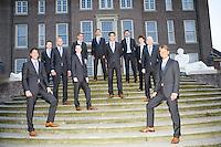 17-9-08, Netherlands, Apeldoorn, Tennis, Daviscup NL-Zuid Korea, Het Nederlandse team op de trappen van het bordes van Paleis het Loo, v.l.n.r.: