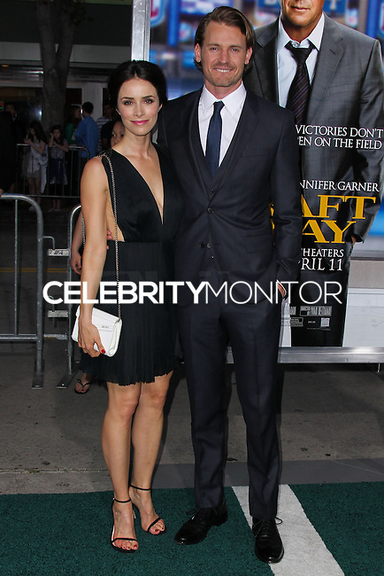 "WESTWOOD, LOS ANGELES, CA, USA - APRIL 07: Abigail Spencer, Josh Pence at the Los Angeles Premiere Of Summit Entertainment's ""Draft Day"" held at the Regency Bruin Theatre on April 7, 2014 in Westwood, Los Angeles, California, United States. (Photo by Xavier Collin/Celebrity Monitor)"