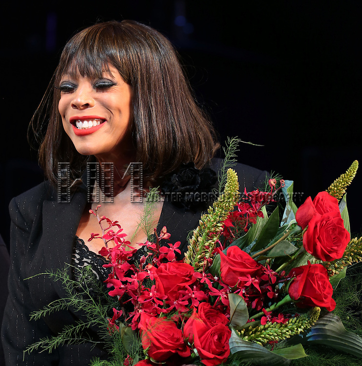 "Wendy Williams during the Curtain Call for Wendy Williams making her Broadway stage debut as Matron ""Mama"" Morton in CHICAGO at the Ambassador Theatre on July 1, 2013 in New York City."