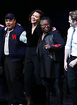 Danny Burstein, Maggie Gyllenhaal, Whoopi Goldberg, Matthew Morrison during the Curtain Call for the Roundabout Theatre Company presents a One-Night Benefit Concert Reading of 'Damn Yankees' at the Stephen Sondheim Theatre on December 11, 2017 in New York City.