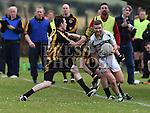 Na Piarsaigh Sean McAuley St Fechins Mark Larkin. Photo:Colin Bell/pressphotos.ie