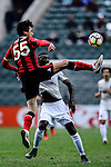 FC Seoul Defender Kwak Tae Hwi (l) fights for the ball during the 2017 Lunar New Year Cup match between Auckland City FC (NZL) vs FC Seoul (KOR) on January 28, 2017 in Hong Kong, Hong Kong. Photo by Marcio Rodrigo Machado/Power Sport Images