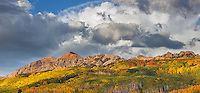 Gunnison National Forest, CO: Clouds over the Ruby Range in early fall