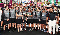 3rd December, Hamilton, New Zealand;  NZ team photo in the dressing room after day 5 of the 2nd test cricket match between New Zealand and England at Seddon Park, Hamilton, New Zealand.