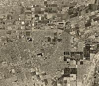historical aerial photograph Anaheim, California, 1963