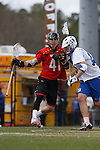 2013 March 02: Kevin Cooper #41 of the Maryland Terrapins during a game against the Duke Blue Devils at Koskinen Stadium in Durham, NC.  Maryland won 16-7.