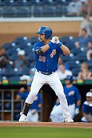 Nate Lowe (36) of the Durham Bulls at bat against the Louisville Bats at Durham Bulls Athletic Park on May 28, 2019 in Durham, North Carolina. The Bulls defeated the Bats 18-3. (Brian Westerholt/Four Seam Images)