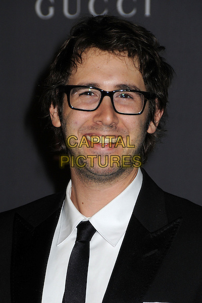Josh Groban.LACMA 2012 Art + Film Gala held at LACMA, Los Angeles, California, USA..October 27th, 2012.headshot portrait black white shirt suit tie glasses stubble facial hair smiling .CAP/ADM/BP.©Byron Purvis/AdMedia/Capital Pictures.