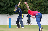 Cricket Scotland - T20 Blitz - Caledonian Highlanders Scott Cameron looks for a boudary off the bowling of Eastern Knights Ally Evans - picture by Donald MacLeod - 03.09.08.2017 - 07702 319 738 - clanmacleod@btinternet.com - www.donald-macleod.com