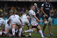 11th January 2020, Parc des Sports Marcel Michelin, Clermont-Ferrand, Auvergne-Rhône-Alpes, France; European Champions Cup Rugby Union, ASM Clermont versus Ulster;  John Cooney  (ulster) kicks for field position