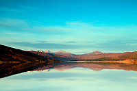 Loch a' Chroisg and the mountains of Torridon at dawn, Ross-shire, Highland