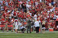 Arkansas Democrat-Gazette/RICK MCFARLAND --09/05/15--  Arkansas's UTEP's during the quarter at Donald W. Reynolds Razorback Stadium in Fayetteville Saturday Sept. 5, 2015.