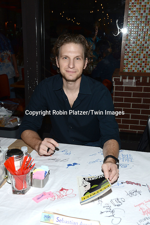 Sebastian Arcelus attends the 28th Annual  Broadway Cares/ Equity Fights Aids Flea Market and Auction on September 21,2014 in Shubert Alley in New York City. <br /> <br /> photo by Robin Platzer/Twin Images<br />  <br /> phone number 212-935-0770