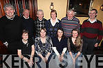Duagh friends on a night out in Leen's Hotel, Abbeyfeale, last Friday night. F l-r: Ann O'Carroll, Ann Scanlon, Helena O'Carroll, Eileen Dennehy. B l-r: Pat Moore, Paul Stack, Andy Keane, Clare Sheehan, Eoin Stack, Brendan Stack.