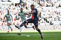 21st July 2020, Parc de Princes, Paris, France; Friendly club football, PSG versus Celtic;   Kylian MBAPPE of PSG  gets his shot on goal during the Friendly match