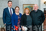 Mike and Sarah Jane O'Brien with Mary Sheehy and Eddie Sheehy, attending Na Gaeil social at the Meadowlands Hotel, Tralee, on Saturday night last.