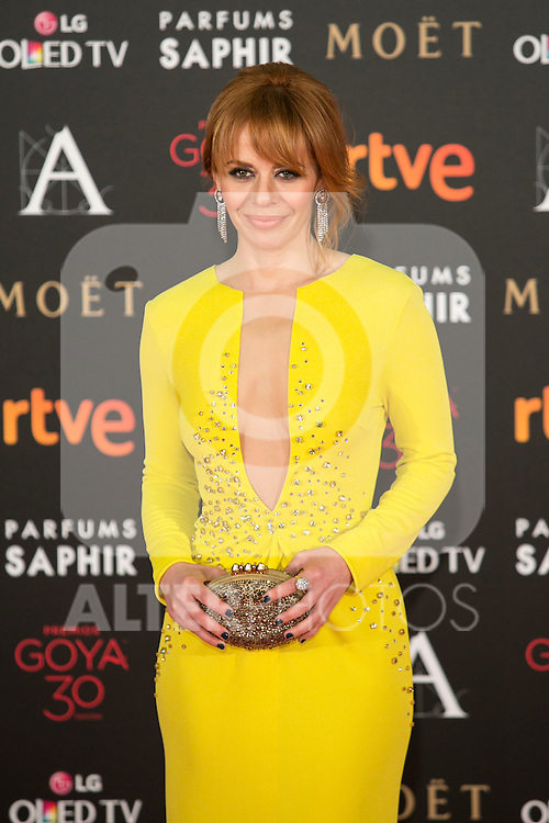 Maria Adanez attends 30th Goya Awards red carpet in Madrid, Spain. February 06, 2016. (ALTERPHOTOS/Victor Blanco)