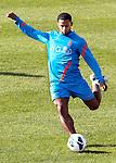 Nederland, Katwijk, 11 oktober  2012.Seizoen 2012-2013.Nederlandselftal.Training van Oranje.Jeremain Lens van Oranje in actie met de bal