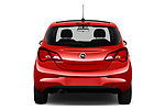 Straight rear view of 2018 Opel Corsa Black-Edition 5 Door Hatchback Rear View  stock images